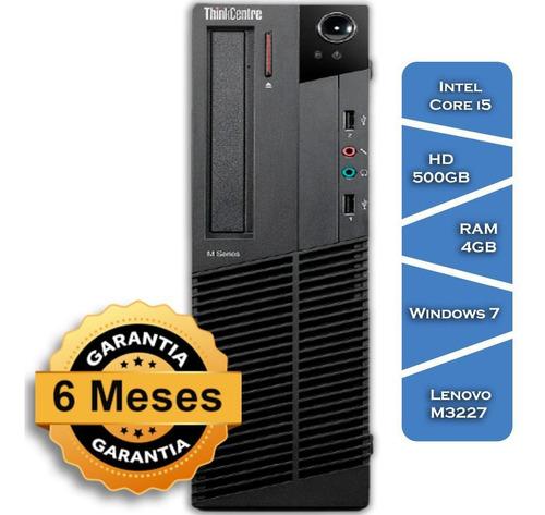 Imagem 1 de 8 de Pc Lenovo M3227 Core I5 3470gº Hd500 4gb Ram Win 7 Teclado