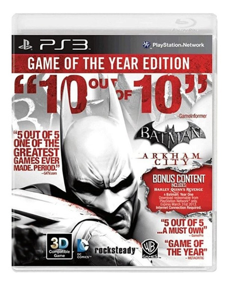 Batman Arkham City Goty - Ps3 - Usado - Original
