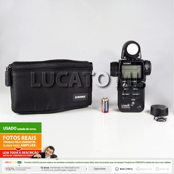 Fotômetro L758dr Sekonic Digitalmaster 12x S/j +frete Grátis