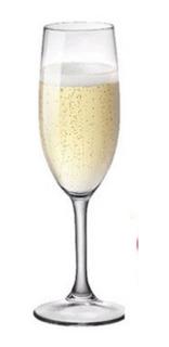 Vaso Copa Vidrio Champagne 186cc Cristar Aragon X12 Unidades