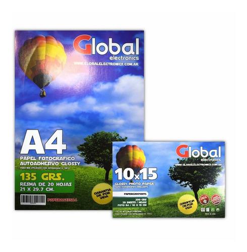 Papel Autoadhesivo Foto A4 Glossy A4 X 20 Hojas 135 Gr