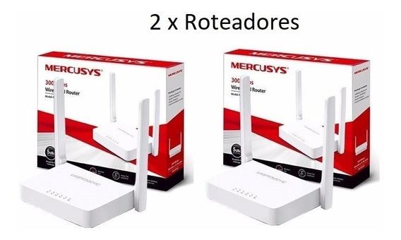 Kit Com 2 Roteadores Mercusys Wi-fi N 300mbps