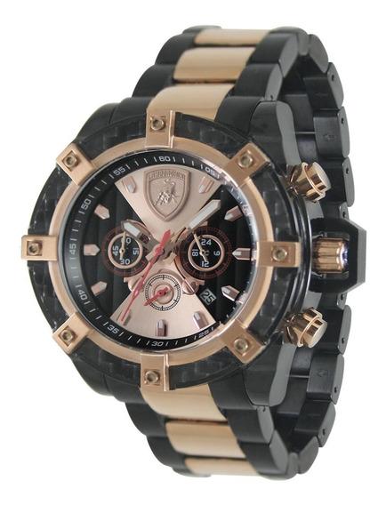 Relógio Masculino Lamborghini Lb90025664m Coleção Aventador