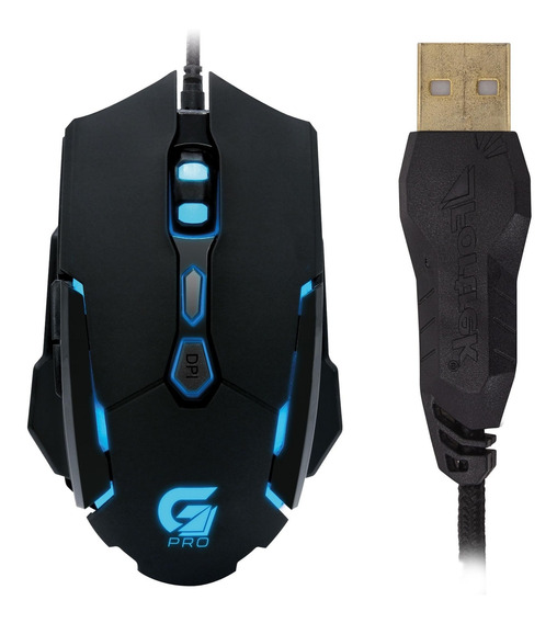 Mouse Gamer Pro M1 Rgb Fortrek Folheado Ouro Filtro Magnétic