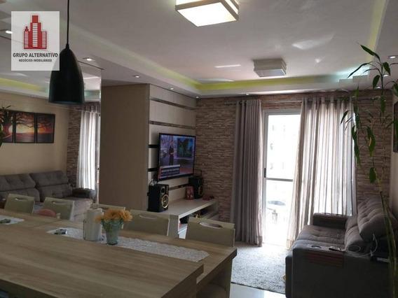 Apartamento Com 3 Dormitórios À Venda, 63 M² Por R$ 425.000,00 - Tatuapé - São Paulo/sp - Ap1053