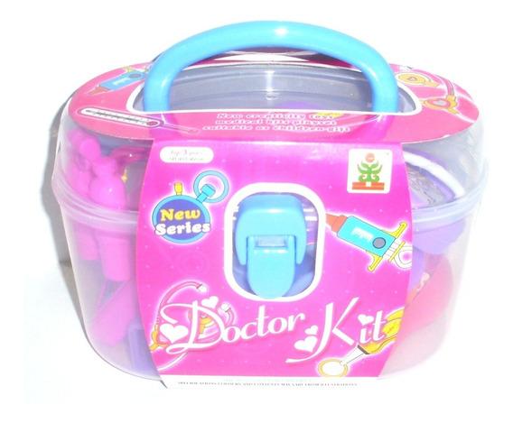 Maleta Medica Brinquedo Infantil Menina Menino 21 Pc+ Maleta