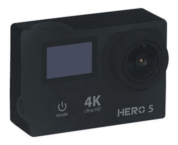 Câmera Goal Pro Hero 5 Sport 4k/ Wi-fi/ Microsd/ Dual Lcd/ Gran Angular - Preta