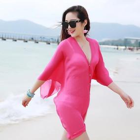 Vestido Saída De Praia Sarong Feminino