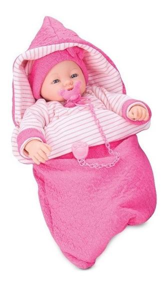 Boneca Dorme Bebê Recém Nascida Com Chupeta - Roma