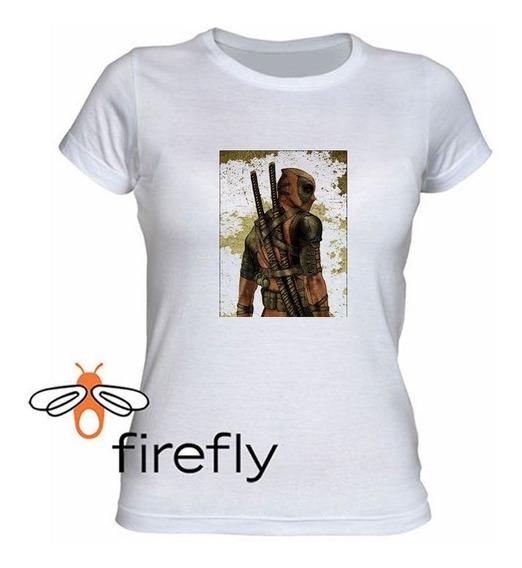 Remera Dead Pool Mujer Blanco Coleccion 2 Firefly