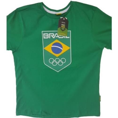Kit 2 Camisas Olimpiadas Rio 2016 Time Brasil Verde Tam M