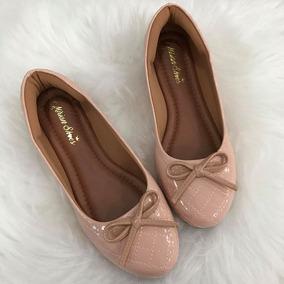 e251196b8e Sapatilha Bico Redondo Metalasse Rose Fosco Mirian Shoes