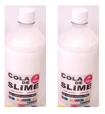 2 Cola Branca 1000g 1kg Total 2000g 2kg Slime Brincar