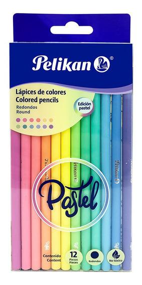 Lápices De Colores Pastel Con 12 Largos (3,3 Mm)