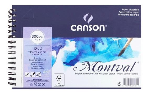 Bloco De Papel Para Aquarela Montval Canson A5 300g/m²