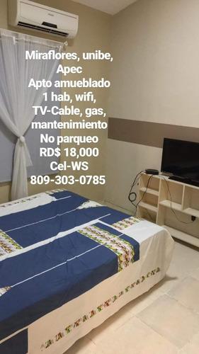 Imagen 1 de 1 de Miraflores, Unibe, Dpto Amueblado, 1 Hab, Alquiler