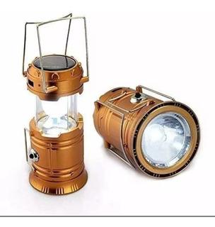 Lanterna Recarregável Solar + Usb + Lampião + Ventilador