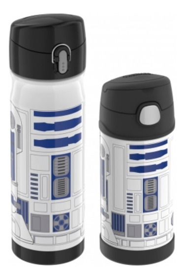 Kit Garrafa Adulto 470ml + Infantil 355ml- Thermos Star Wars