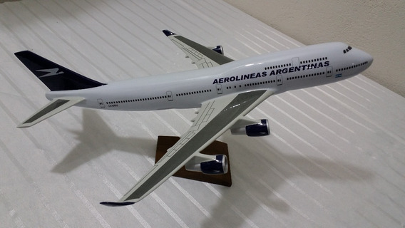 Miniatura De Avião B-747 Aerolineas Argentinas