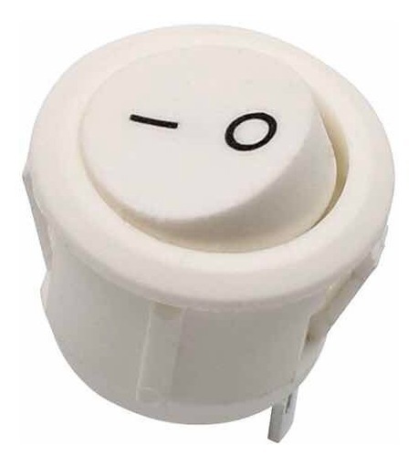 10 Chave Botão Redondo Embutir Liga Desliga Tic Tac Branco