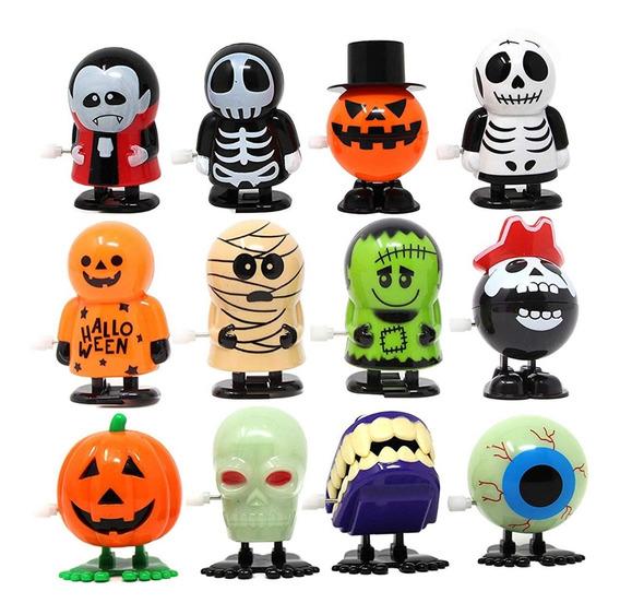 12 Figuras Halloween Día De Muertos Calabaza Vampiro Momia
