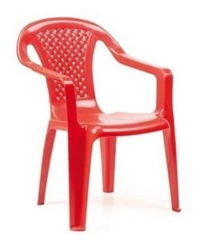 Imagen 1 de 6 de Silla De Plástico Pvc Infantil Para Niños Con Posa Brazos