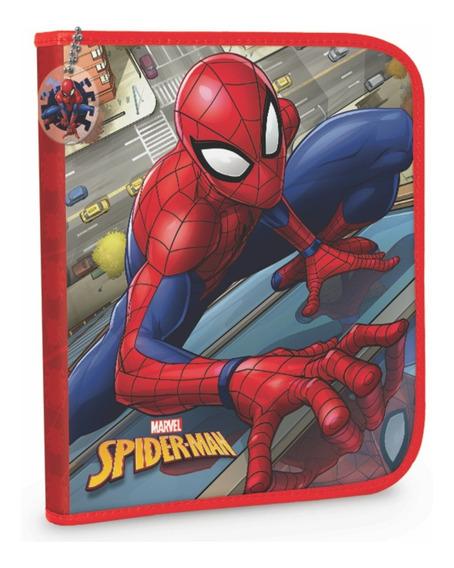 Cartuchera 1 Piso Pvc Hombre Araña Spiderman Mundo Manias