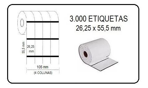 Etiquetas Composição Roupa 26x55mm Impressora Argox Zebra...