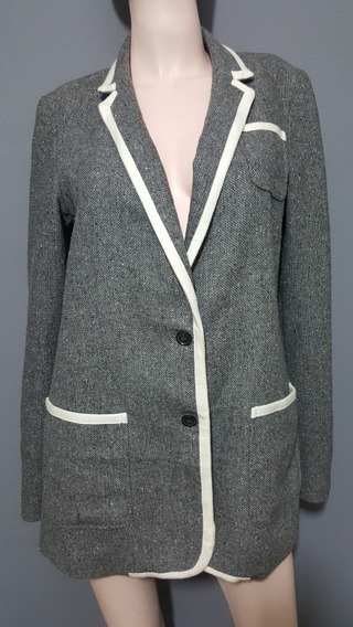 Saco Banana Republic Mediano Gris Blazer Tweed