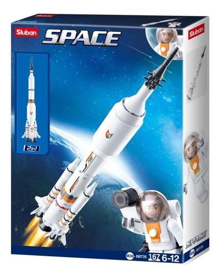Blocos De Montar Br1033 Astronautas 167 Peças Multikids