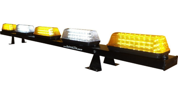 Giroflex Leds 1,5m Alta Potência Luminosa Guincho Ambulância