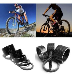 Espaçadores Fibra De Carbono Mesa Direção Bike Kit 5 Peças