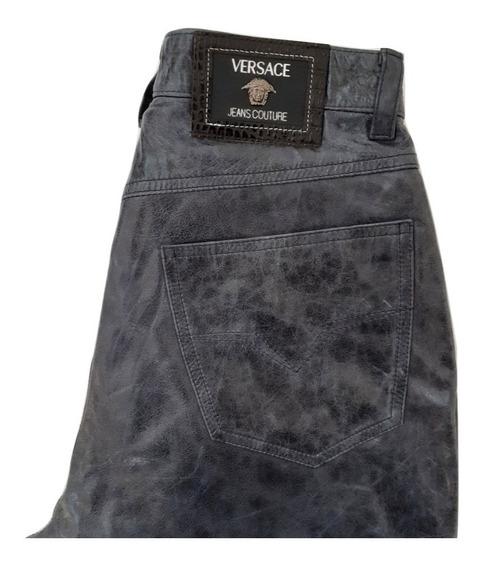 Versace Jeans Pantalón De Piel Unisex 30x31. (reducido).