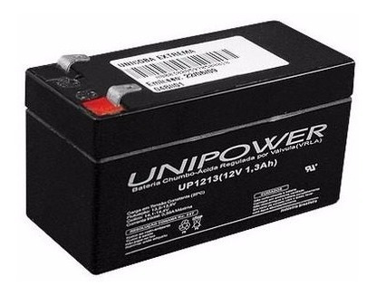 Bateria 12v 1,3a Unipower Nobreak-alarmes- Relógio De Ponto