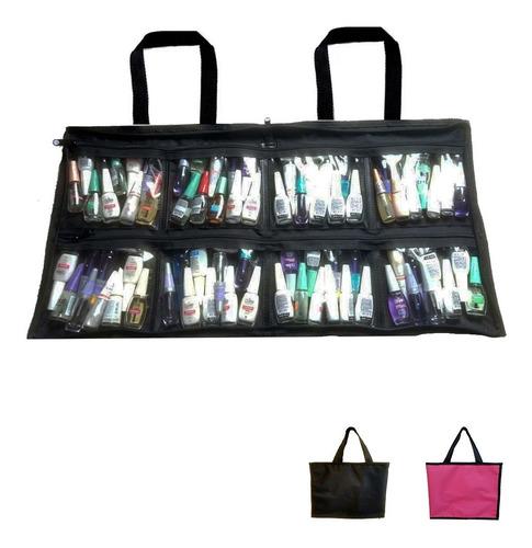 Imagem 1 de 5 de Bolsa Maquiagem Manicure Cabem Até 120 Esmaltes Promoção