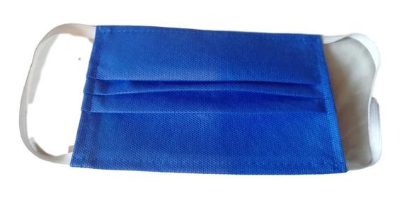 Cubrebocas Azul Impermeable Lavable Plisado (100pack)