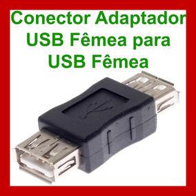 Conector Adaptador Usb Femea Para Femea