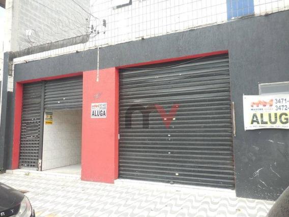 Loja Para Alugar, 101 M² Por R$ 3.000,00/mês - Vila Guilhermina - Praia Grande/sp - Lo0067