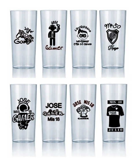 Vasos Luminosos Multicolor Personalizados X50 U Vasos Led