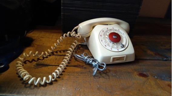 Teléfono Antiguo Vintaje De Disco Funcionando
