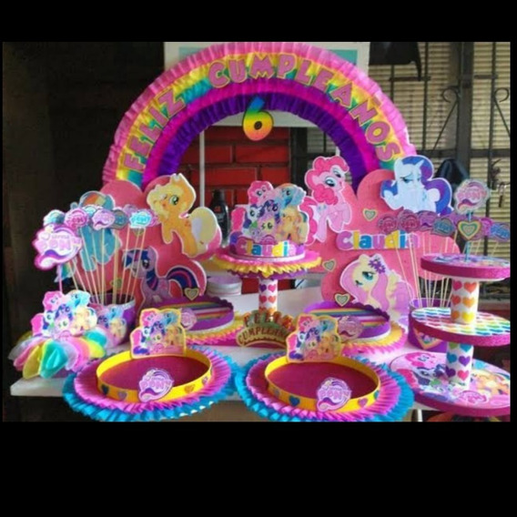 Paquete De Mesa Fiesta My Litle Pony