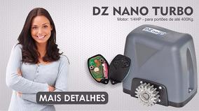 Kit Motor Portao Eletronico Deslizante Dz Nano Turbo 1/4hp