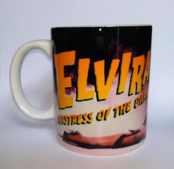 Caneca Elvira A Rainha Das Trevas Branca 325 Ml Cerâmica