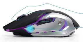 Mouse Gamer Silencioso Recarregavel Ergonomico