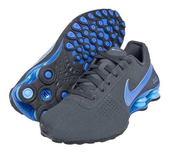 Tênis Nike Shox Deliver Cinza Azul Original