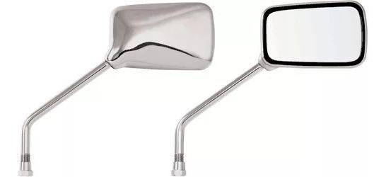 Par Espelho Retrovisor Cromado Twister Cbx 200 Strada Titan