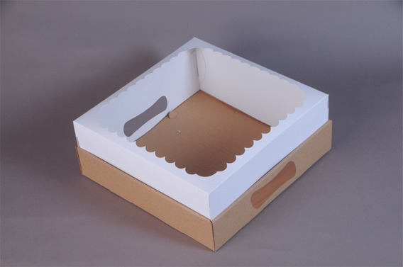 Caja Para Desayuno Con Visor! 25x25x12 (pack X10)