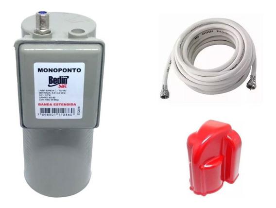 Kit Lnbf Monoponto Antena Parabólica Via Satélite