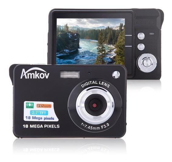 Tft Lcd Display Hd Câmera Digital Prata