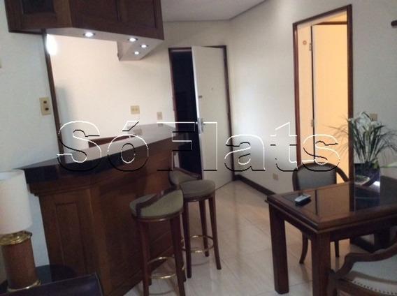 Flat No Itaim Bibi, Próximo A Shoppings, Lojas E Restaurantes - Sf25452